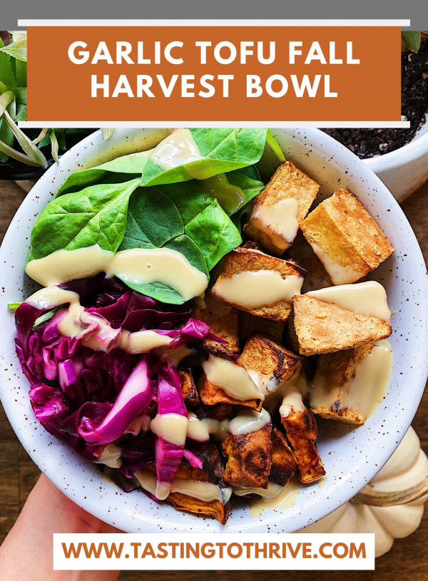Garlic Tofu Fall Harvest Bowl