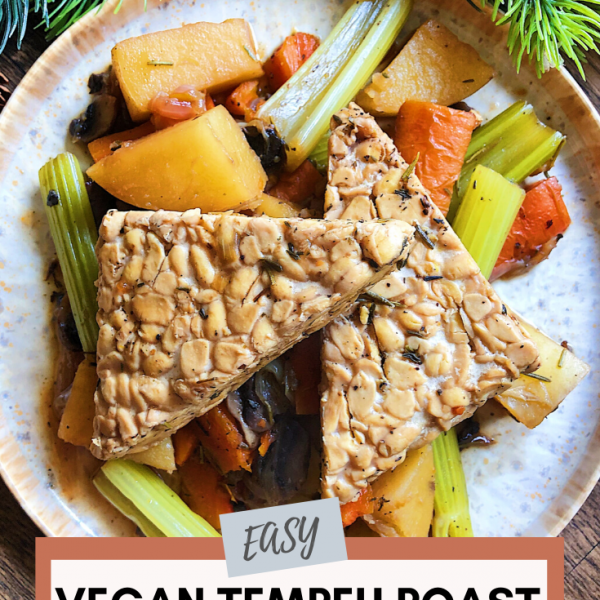 easy vegan tempeh roast