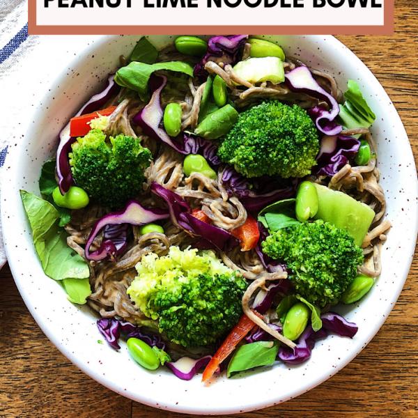 Peanut lime noodle bowl recipe