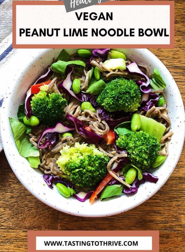 Peanut lime noodle bowl recipe