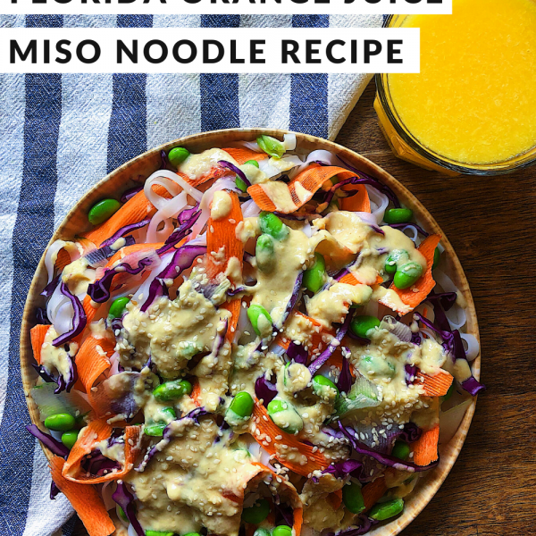 Florida Orange Juice Miso Noodles Recipe
