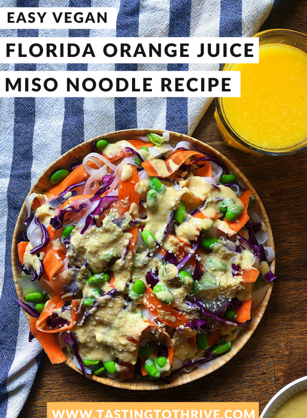 Miso Florida Orange Juice Noodles Recipe [Vegan + Gluten-Free]