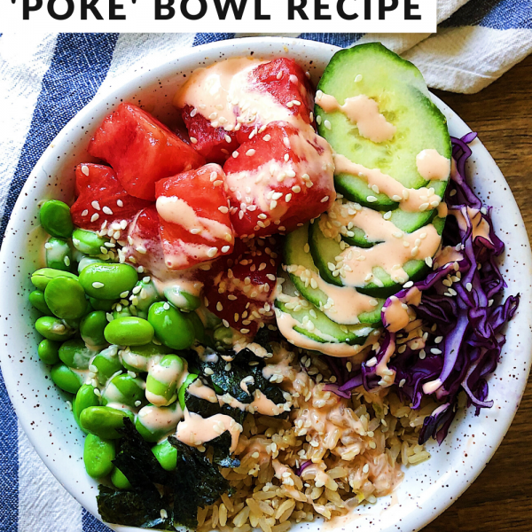 vegan watermelon 'poke' recipe