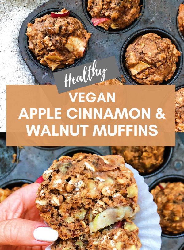 Apple Cinnamon & Walnut Vegan Muffin Recipe
